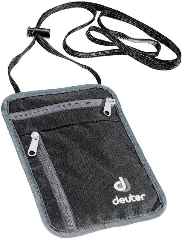 Deuter P Security Wallet I Musta/harmaa