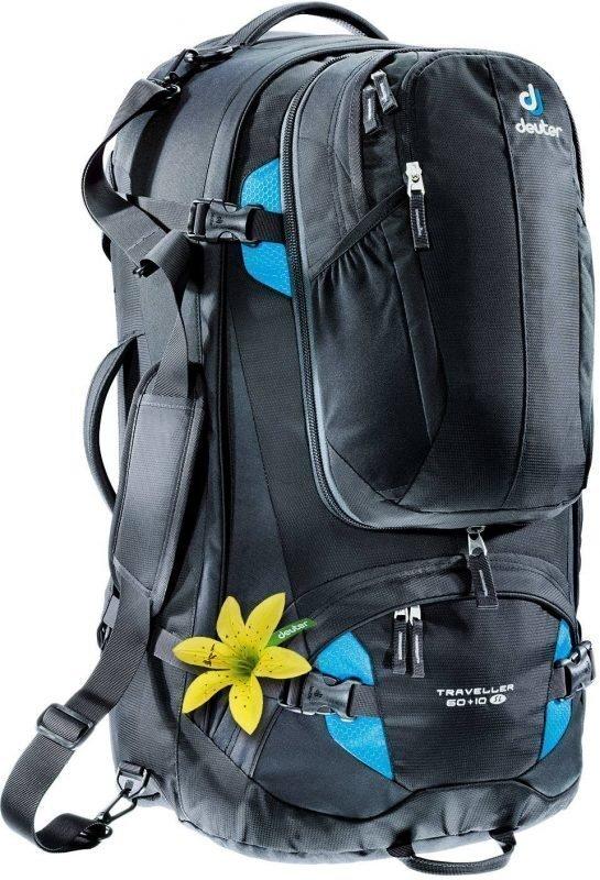 Deuter Traveller 60 + 10 SL Musta