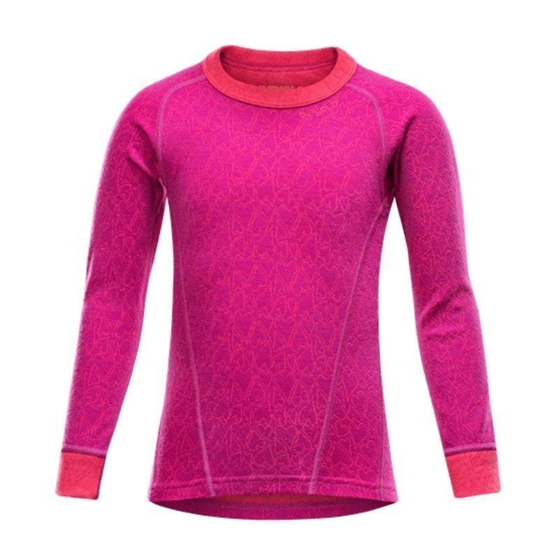 Devold Active Happy Face Kid Shirt 2 Orchid