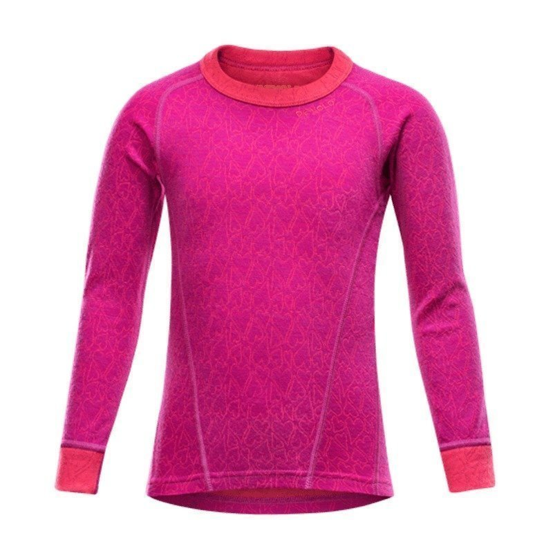 Devold Active Happy Face Kid Shirt 8 Orchid