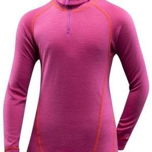Devold Active Jr -poolo Fuksia 4