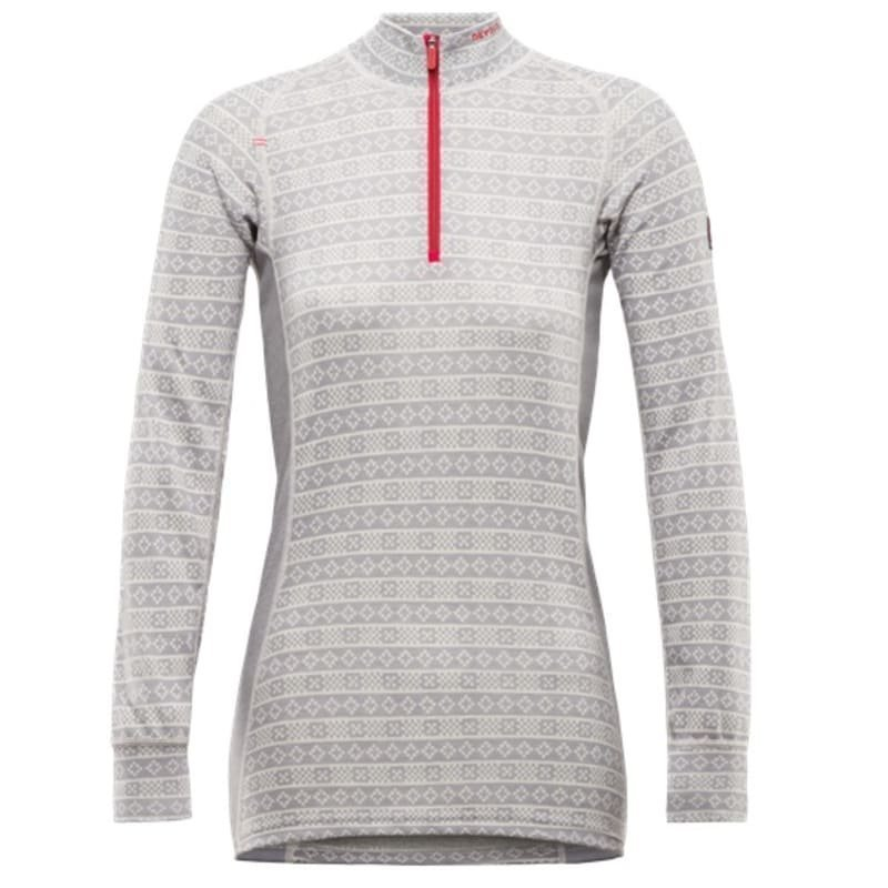 Devold Alnes Woman Half Zip Neck XS Grey