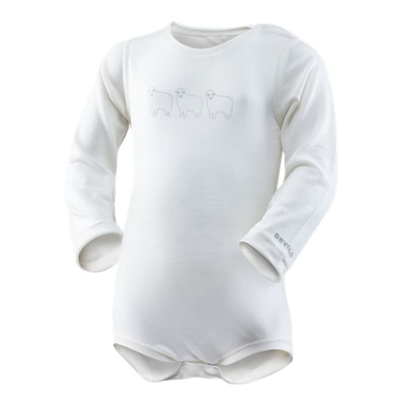 Devold Breeze Baby Body 74 Offwhite