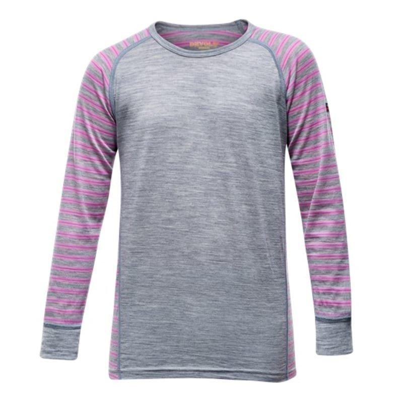Devold Breeze Junior Shirt 12 Peony Stripes