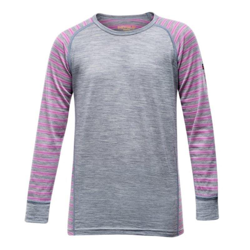 Devold Breeze Junior Shirt 14 Peony Stripes