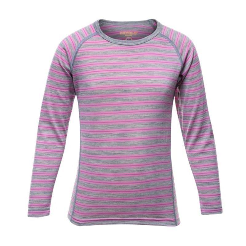 Devold Breeze Kid Shirt 2 Peony Stripes