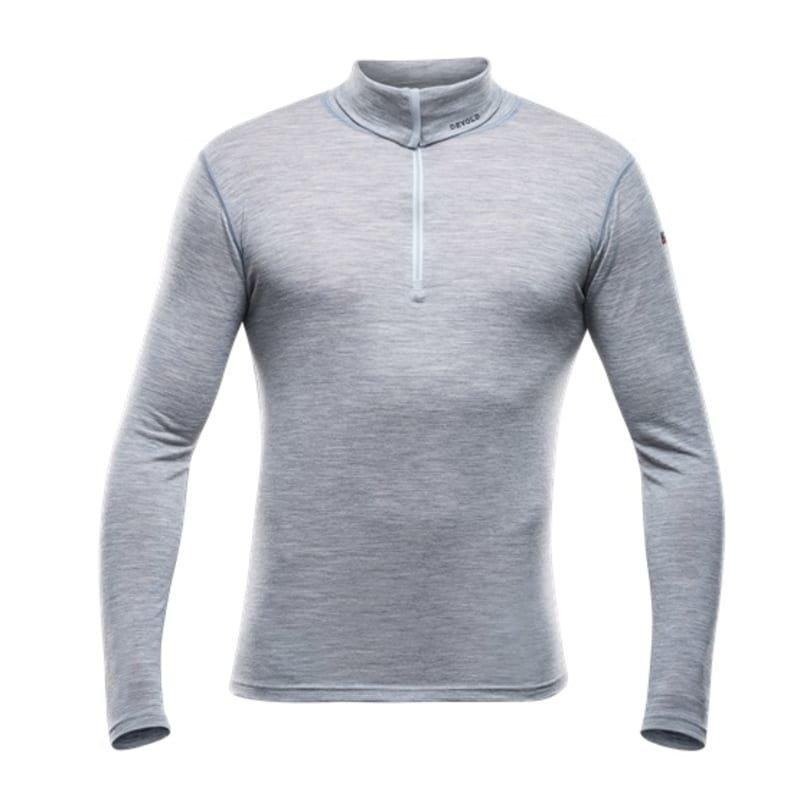 Devold Breeze Man Zip Neck L Grey Melange