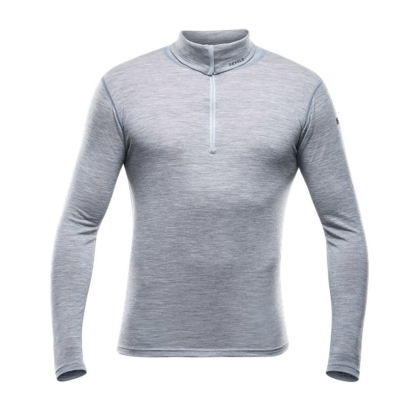 Devold Breeze Man Zip Neck M Grey Melange