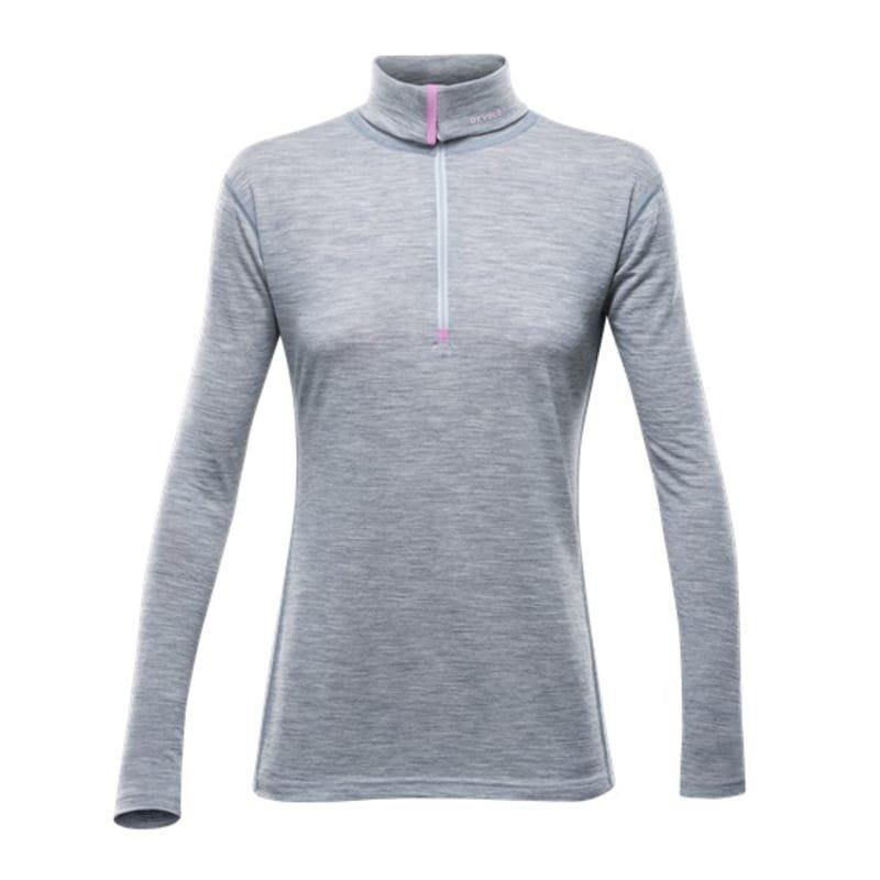 Devold Breeze Woman Zip L Grey Melange