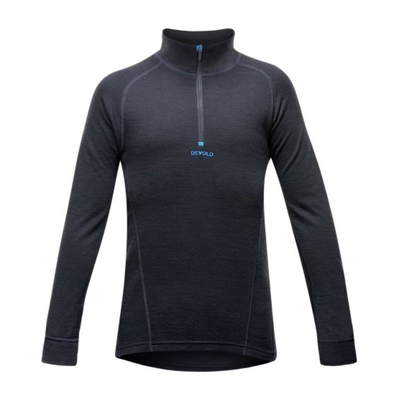 Devold Duo Active Junior Half Zip Neck 10 Black/Blue