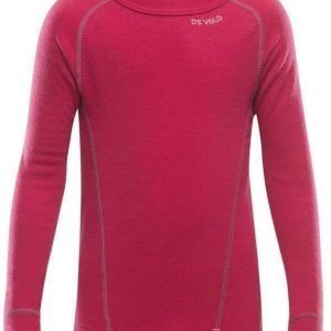 Devold Duo Active Kids Shirt Raspberry 2