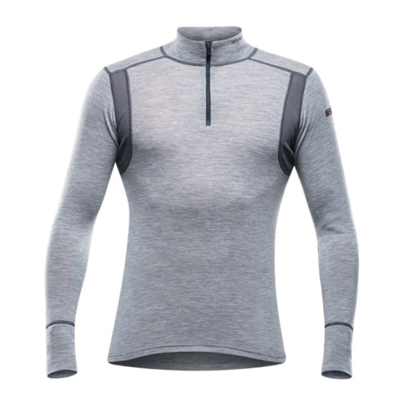 Devold Hiking Man Half Zip Neck M Grey Melange