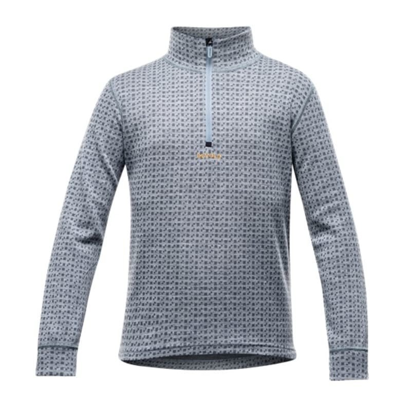 Devold Islender Junior Half Zip Neck 10 Grey Melange