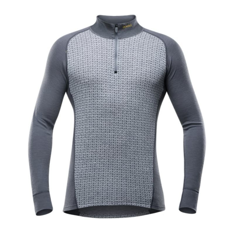 Devold Islender Man Half Zip Neck M Grey Melange