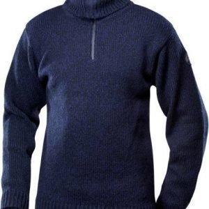 Devold Nansen Zip neck tummansininen L