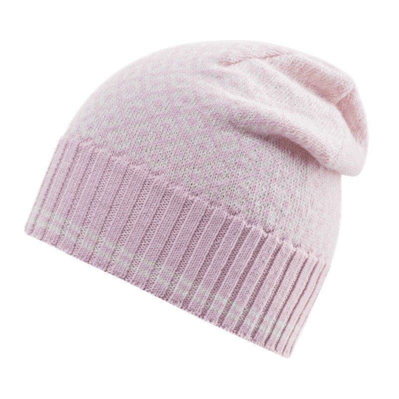Devold Slogen Woman Beanie 58 Pink/Offwhite