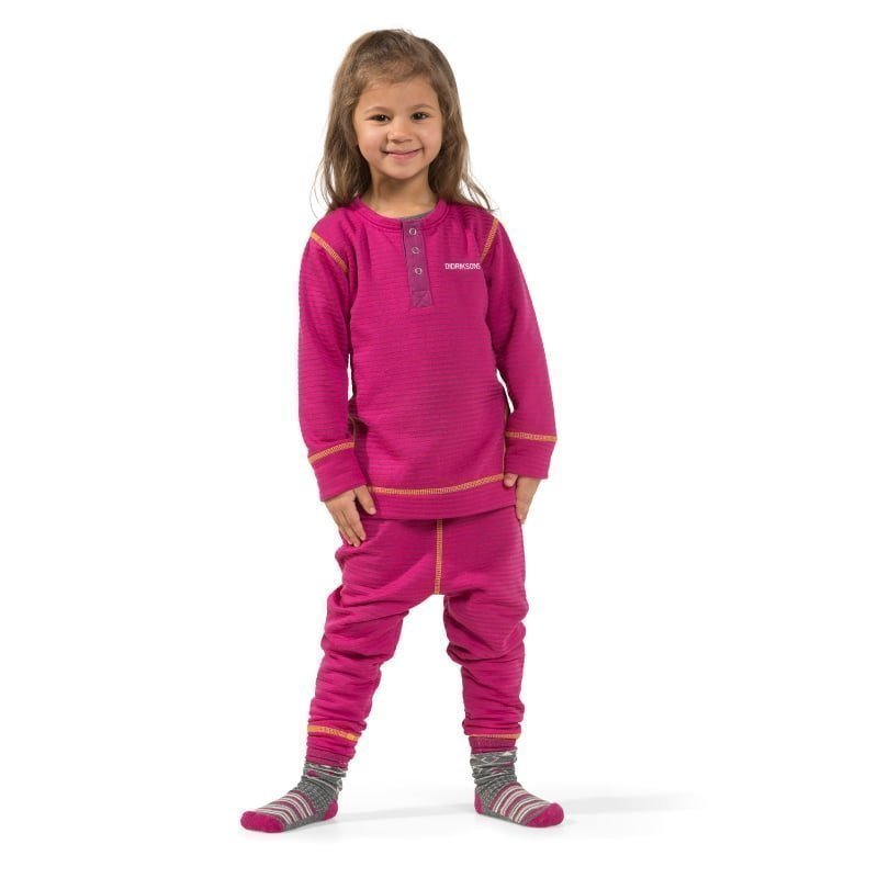 Didriksons Moarri Kids Set 110 Lilac Striped