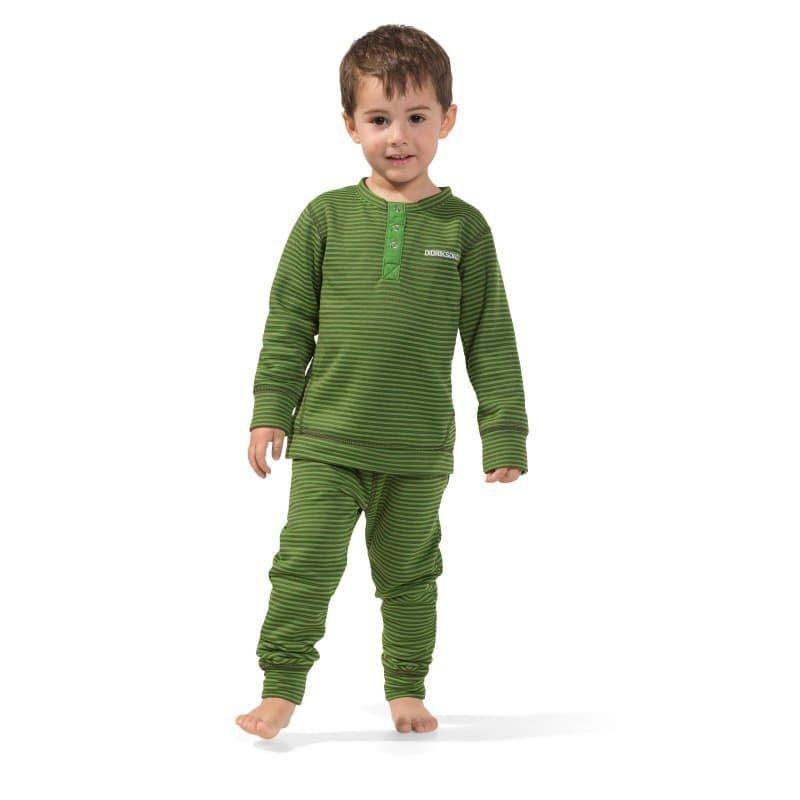 Didriksons Moarri Kids Set 130 Green Striped