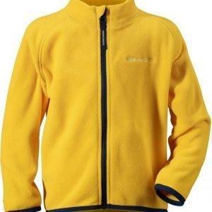 Didriksons Monte Kids Mircofleece Jacket Keltainen 110
