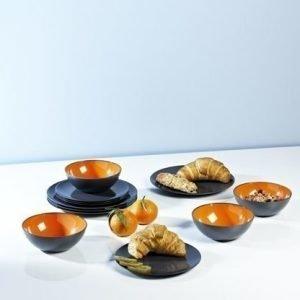 Dinner set astiasetti 12-osainen harmaa / oranssi