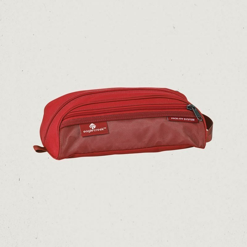 Eagle Creek Pack-It Quick Trip mini toilettilaukku punainen