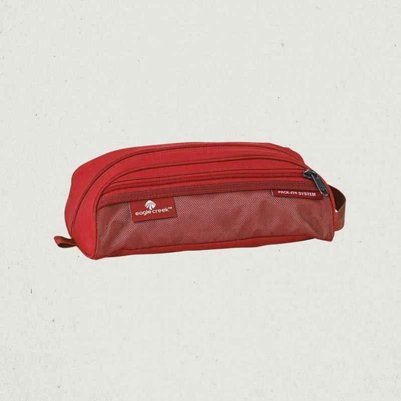 Eagle Creek Pack-It Quick Trip mini toilettilaukku punainen