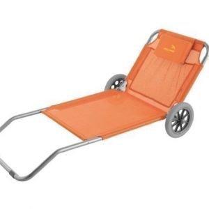 Easy Camp Pier Blue aurinkotuoli pyörillä oranssi