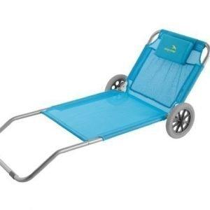 Easy Camp Pier Blue aurinkotuoli pyörillä sininen