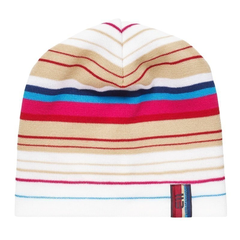 Elevenate Striped Beanie 1SIZE Snow White