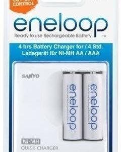 Eneloop - Pikalatauslaite sis. 2 kpl AA-koko.
