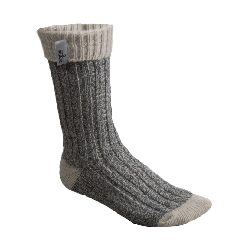 FÅK Boot Sock 36-40 Grey Melange