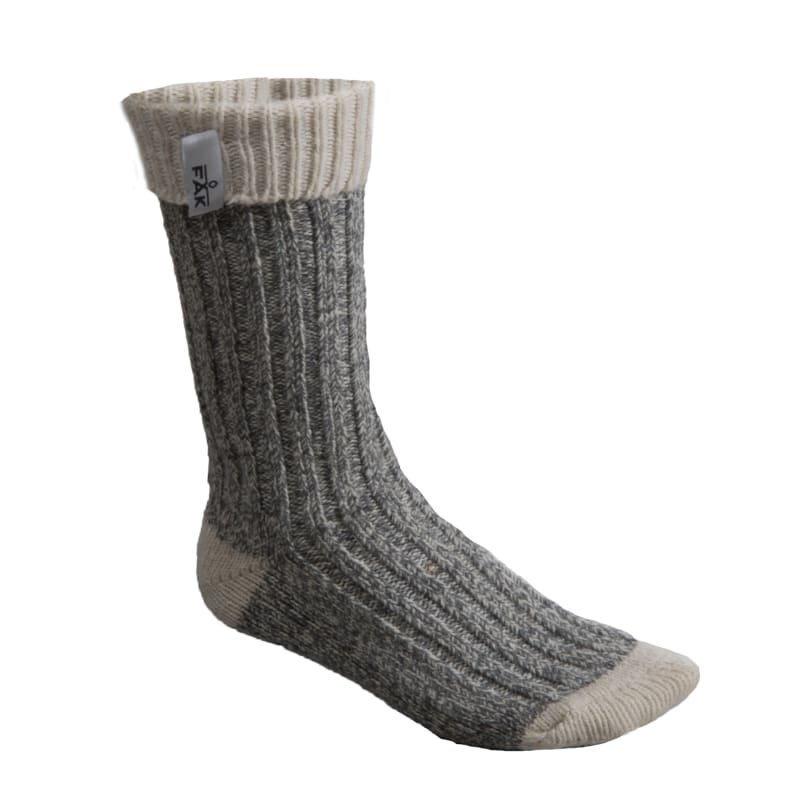 FÅK Boot Sock 36-40 Grey Melange