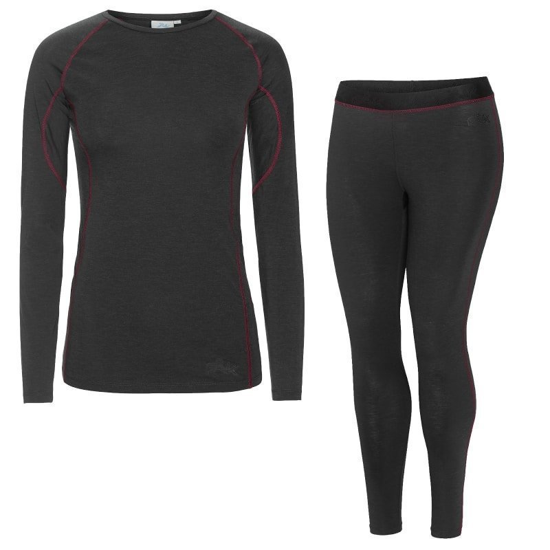 FÅK Women's Merino Plus set S Dark Grey