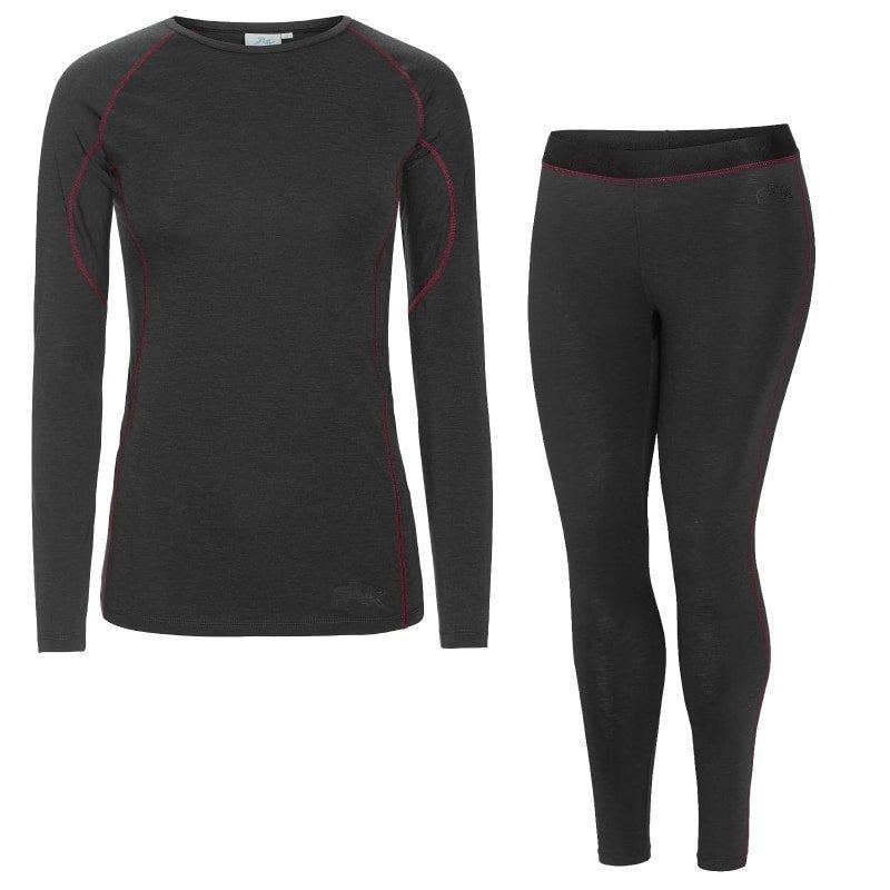 FÅK Women's Merino Plus set XS Dark Grey