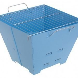 Faltgrill kokoontaitettava Barbecue BBQ matkagrilli sininen
