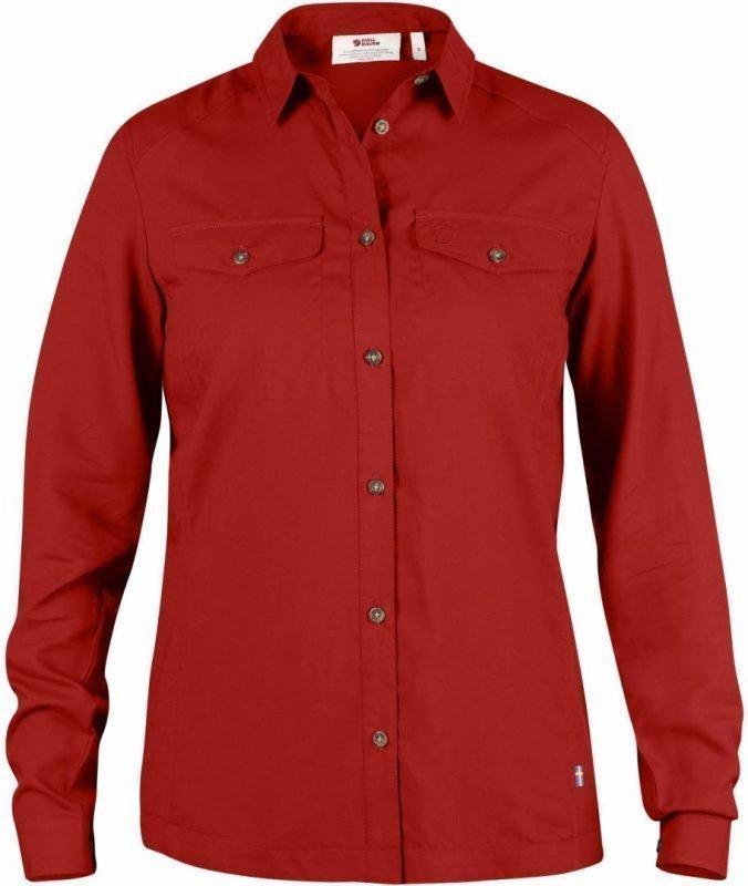 Fjällräven Abisko Vent Shirt LS Women Punainen M