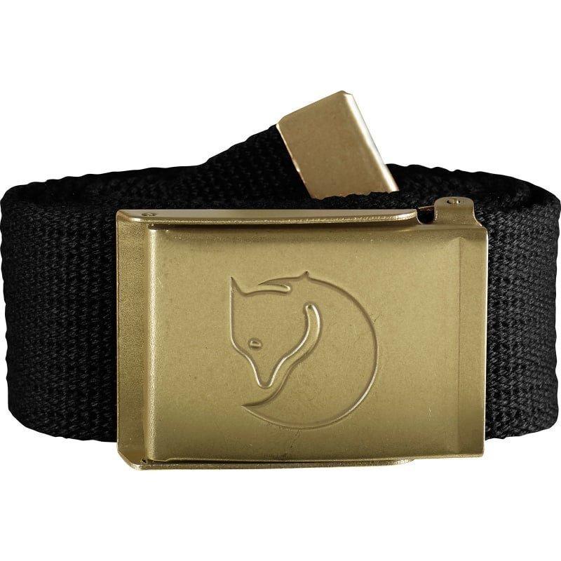 Fjällräven Canvas Brass Belt 4 cm 1 SIZE Black
