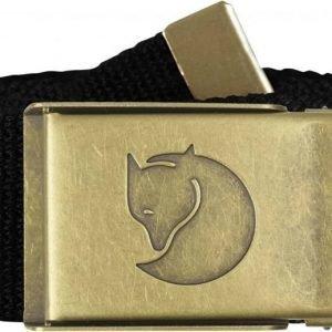Fjällräven Canvas Brass Belt 4 cm Musta