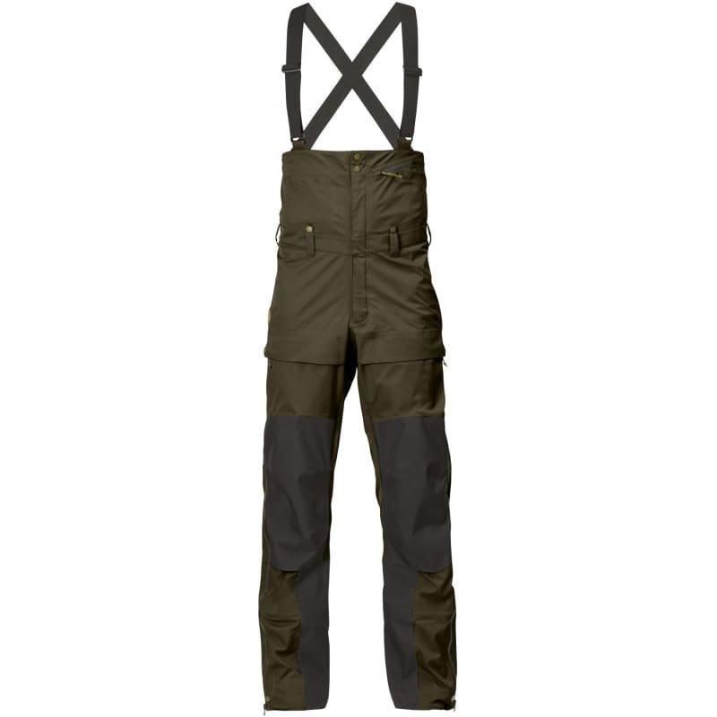 Fjällräven Keb Eco-Shell Bib Trousers XL Dark Olive