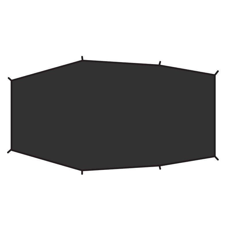 Fjällräven Lite 3 footprint 1SIZE Black