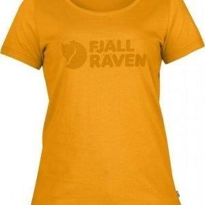 Fjällräven Logo T-shirt Women Keltainen L