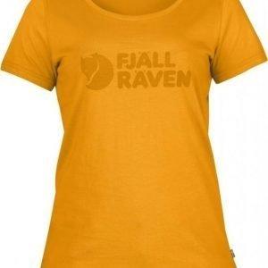 Fjällräven Logo T-shirt Women Keltainen M