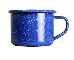 GSI emalinen espressomuki sininen