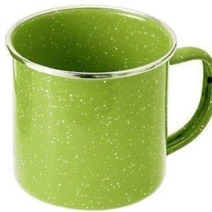 GSI emalinen muki 355ml vihreä