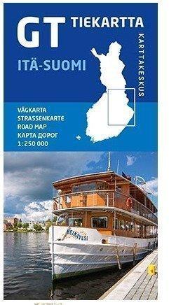 GT tiekartta Itä-Suomi 2015 1:250 000