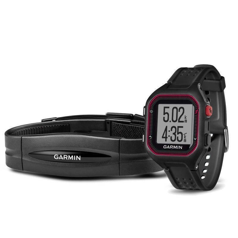 Garmin Forerunner 25 HR ONE SIZE Black/Red