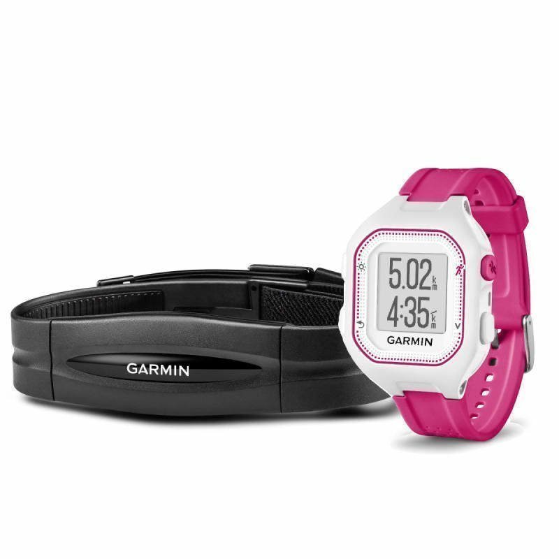 Garmin Forerunner 25 HR ONE SIZE White/Pink