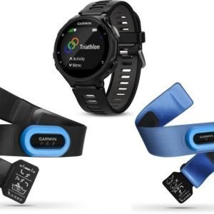 Garmin Forerunner 735XT Triathlon Bundle Musta