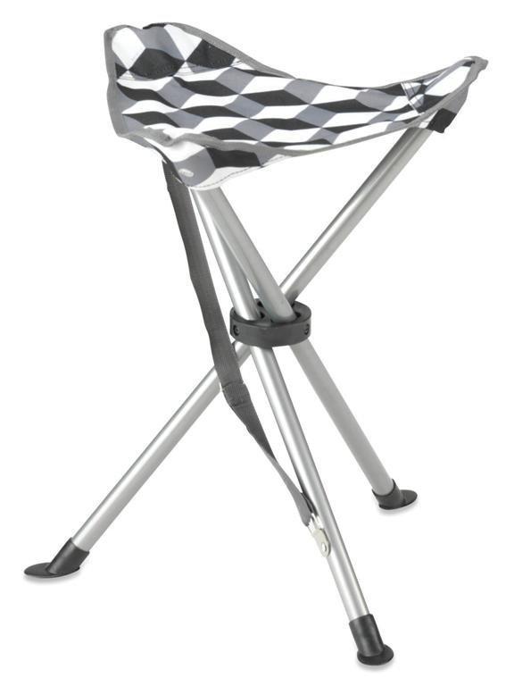 Gelert Tripod stool steel jakkara illusion