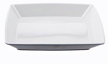 Gimex Quadrato Jälkiruokalautanen musta/valkoinen 20x20cm